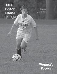 W.Soccer - Rhode Island College Athletics