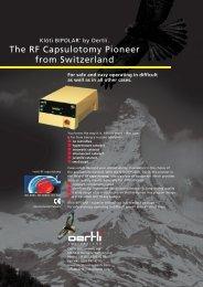 The RF Capsulotomy Pioneer from Switzerland
