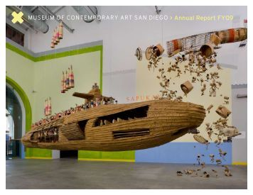Annual Report FY09 - Museum of Contemporary Art San Diego