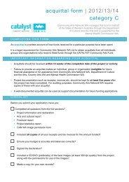 acquittal form - Community Arts Network Western Australia