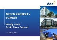 GREEN PROPERTY SUMMIT Wendy Jones Bank of New Zealand