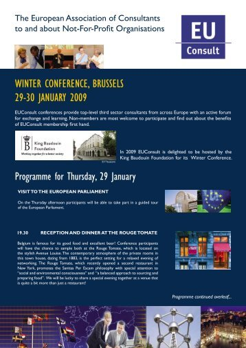 Programme - EUConsult