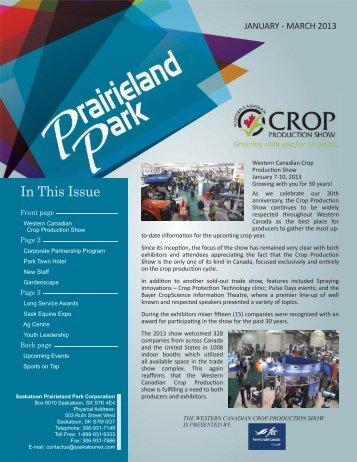 2013 January - Prairieland Park
