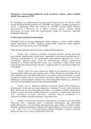 NTT SYSTEM SA informacja o niestosowaniu zasad ładu ...