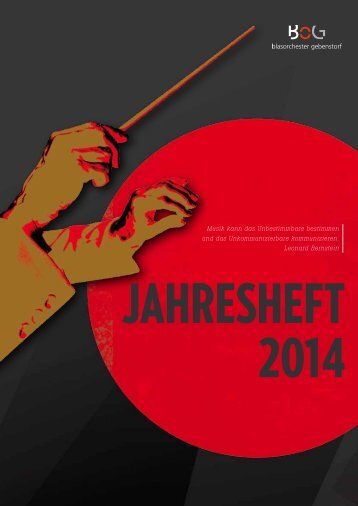 Programmheft 2014 - Blasorchester Gebenstorf
