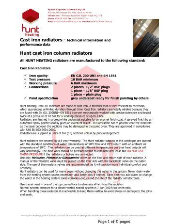 Cast iron radiators - Hunt Heating
