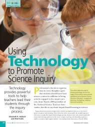 Using Technology to Promote Science Inquiry - National Association ...