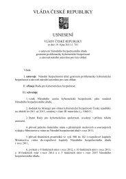 VLÁDA ČESKÉ REPUBLIKY - Národní bezpečnostní úřad