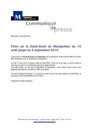 De 9h à 18h30 : Maison natale de saint Roch 19 bis ... - Montpellier