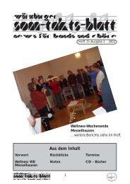 Sonntaktsblatt 15, Ausgabe 2/2002 - Arbeitskreis Neues Geistliches ...