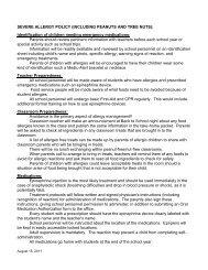 PEANUT PROPOSAL: - Bellevue Christian School