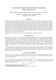 Is covariance information useful in estimating vision ... - CiteSeerX