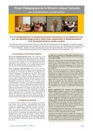 Projet Pédagogique de la Mission Laïque Française - Fapee.com