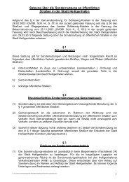 Satzung über die Sondernutzung an öffentlichen ... - Heiligenhafen