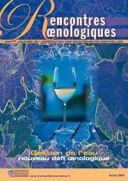 Gestion de l'eau - Union des oenologues de France