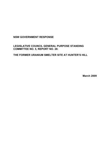 Government response to General Purpose Standing ... - Land