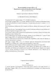 Federalismo municipale - Sistema delle autonomie locali