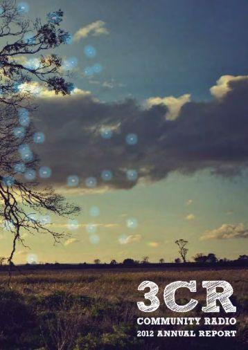 2012 Annual Report - 3CR Community Radio