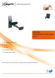 Loudspeaker wall mount (2x) VLB 200