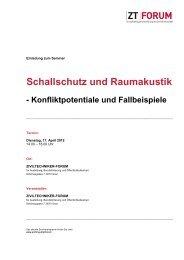 Schallschutz und Raumakustik - Kammer der ZiviltechnikerInnen für ...