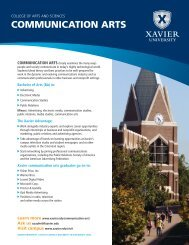 COMMUNICATION ARTS - Xavier University