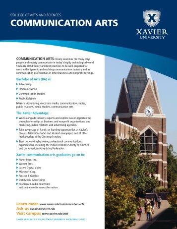 COMMUNICATION ARTS - Xavier University