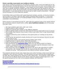 Proposed Calendar - Lake Havasu Unified School District