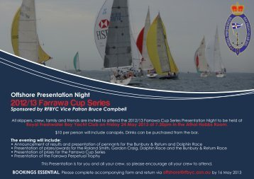2012/13 Farrawa Cup Series - Royal Freshwater Bay Yacht Club