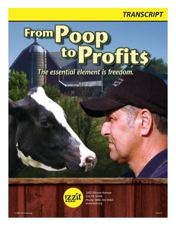 From Poop To Profits – Transcript - Izzit.org