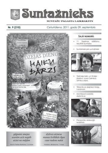 Suntažu pagasta laikraksts Suntažnieks, septembris - Ogres novads