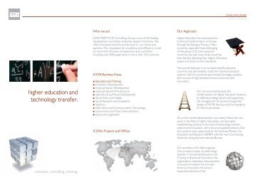 higher education and technology transfer. - ICON Institute