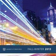 FALL-WINTER 2013 - University of Toronto Press Publishing