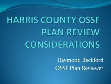 On-Site Plan Review Considerations - Ray Beckford - Texas Onsite ...