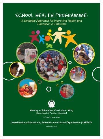 School Health Programme: - UNESCO Islamabad