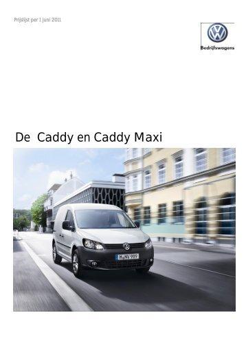 Prijslijst VW Bedrijfswagens Caddy en Caddy Maxi per ... - Fleetwise