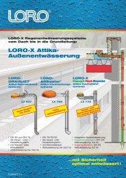 LORO-X Attika- Außenentwässerung