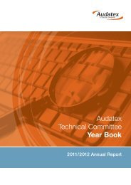 Technical Committee Annual Report - Audatex