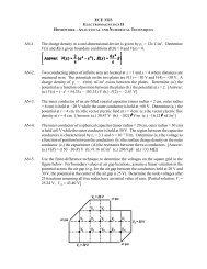 ECE 3323 AN-1. The charge density in a one-dimensional device is ...