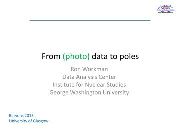 From (photo) data to poles - University of Glasgow