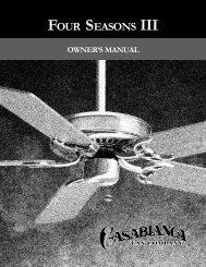 Owner's Manual - Casablanca Fan