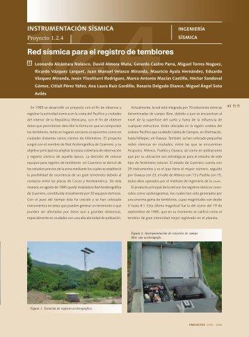 1.2.4 Red sísmica para el registro de temblores. Página 43 - UNAM