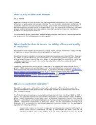 WHO QA Counterfeit - World Health Organization