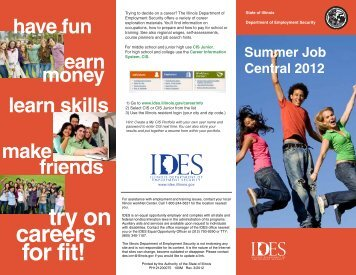 try on careers for fit! - Illinois Department of Employment Security ...
