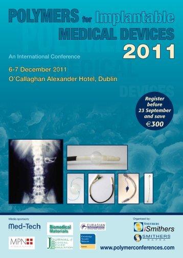 6-7 December 2011 O'Callaghan Alexander Hotel ... - Smithers Rapra