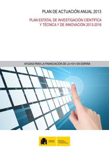 Plan de Actuación Anual 2013 - Ministerio de Ciencia e Innovación