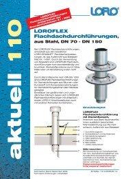 LOROFLEX Flachdachdurchführungen, aus Stahl, DN 70