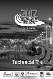 tekninen käsikirja - WMA 2012 in Jyväskylä