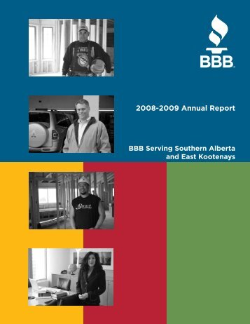 2008-2009 Annual Report - Better Business Bureau Southern in ...