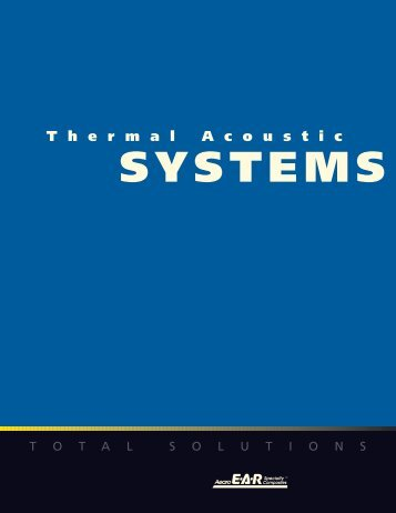 SYSTEMS T hermal A coustic - EAR Aircraft