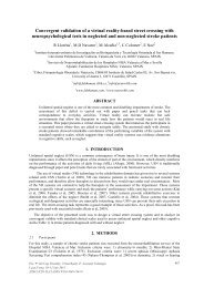 Convergent validation of a virtual reality-based street ... - ICDVRAT